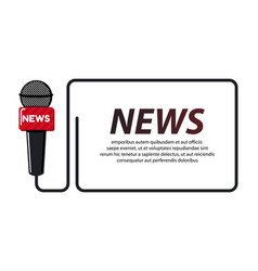 Breaking news concept with quote for news channels vector