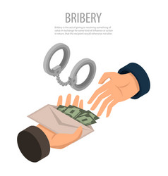 bribery concept background isometric style vector image