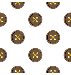 Brown clothing button pattern flat vector