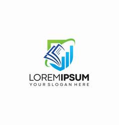 Business education logo template vector