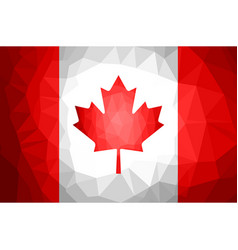 Canada flag polygon abstract vector