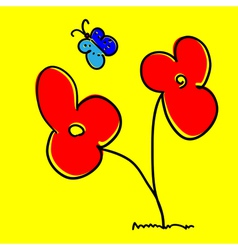 Cartoon Flower vector image