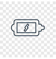 Charging battery concept linear icon isolated on vector