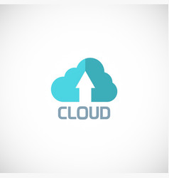 cloud arrow logo vector image