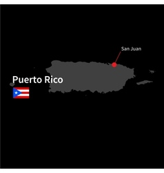 Detailed map of Puerto Rico and capital city San vector image