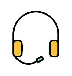 Earsphone icon vector