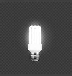 electricity and single tube lamp light up and vector image