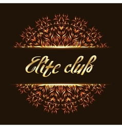 Elite club logo mandala vector
