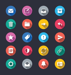 email simple color icons vector image