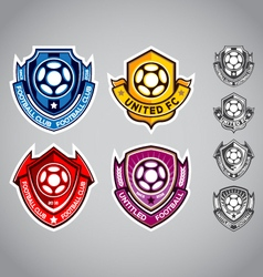 Emblem logo football vector