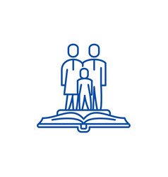 Family law line icon concept family law flat vector