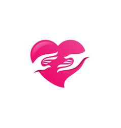 family love logo icon design vector image