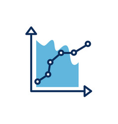 Financial statistics infographic isolated icon vector