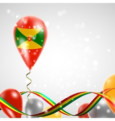 Flag of Grenada on balloon vector