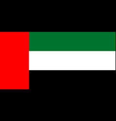 flag of united arab emirates official colors and vector image