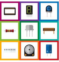 Flat icon technology set of bobbin hdd vector