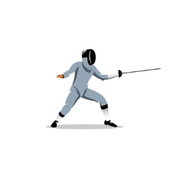 Foil fencer sign vector image