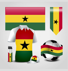Ghana country flag place on t-shirt lighter vector