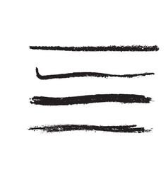 grainy brush set vector image