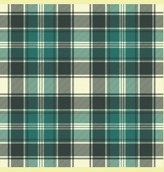 green plaid fabric texture seamless pattern vector image