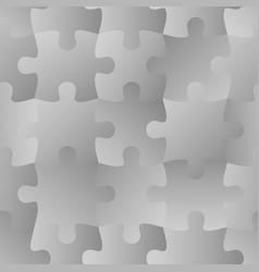 Grey jigsaw seamless puzzle pattern autism vector