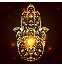 hamsa hand fatima vector image