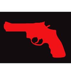 Hand gun silhouette vector