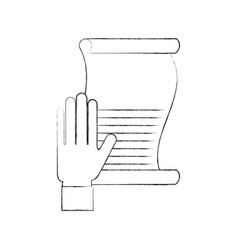 hand with wish list christmas letter symbol vector image