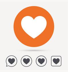 heart icon romantic love sign vector image