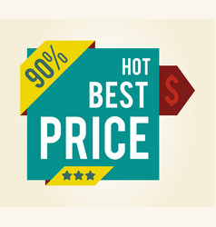 hot best price 90 with stars vector image