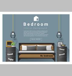 Interior design bedroom background 6 vector