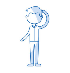 isolated icon boy vector image vector image
