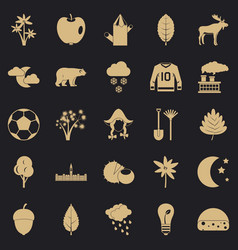 Leafage icons set simple style vector