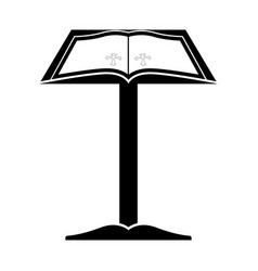 Lectern with open bible vector