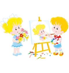 Little painter vector