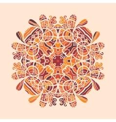 Mandala Print Orange Color vector image