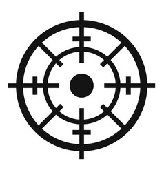 maritime radar aim icon simple style vector image