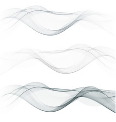 modern futuristic soft smoke gradient flow lines vector image