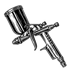 Monochrome of spray gun vector