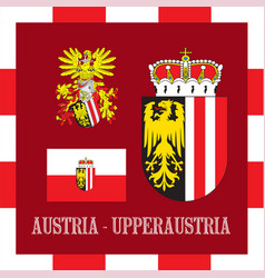 National ensigns of upperraustria - austria vector