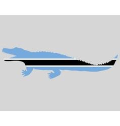 Nile crocodile Botswana vector
