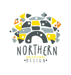 Nothern logo template design badge for nothern vector