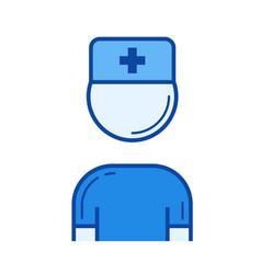 nurse line icon vector image
