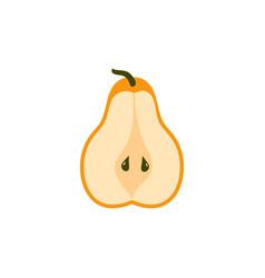 Pear icon - fresh fruit - organic nature symbol vector
