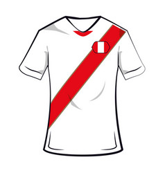 Peru soccer tshirt vector
