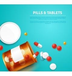 Pills Bottle Realistic vector