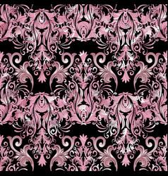 pink damask seamless pattern floral vector image