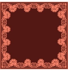 Pink lace frame vector