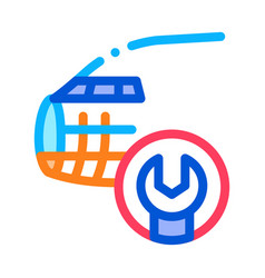 Plane fix wrench icon outline vector