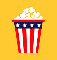 popcorn icon cinema icon in flat design style vector image